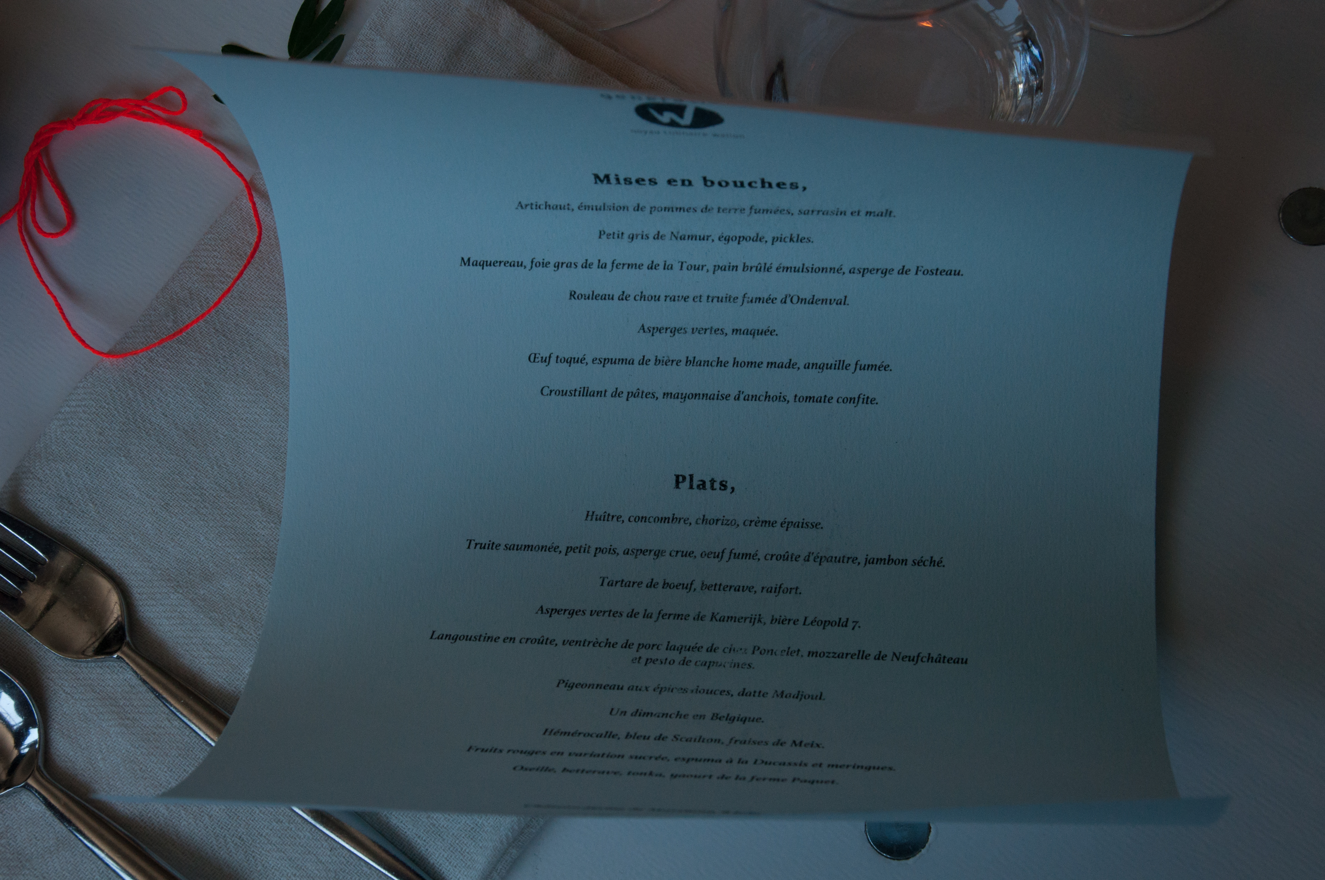 Le menu, In situ